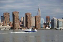 Panorama dell'orizzonte di Manhattan di Midtown Fotografia Stock