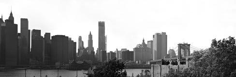 Panorama dell'orizzonte di Manhattan NYC Immagini Stock Libere da Diritti