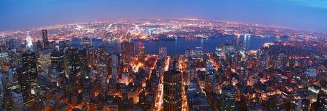 Panorama dell'orizzonte di New York City Immagine Stock
