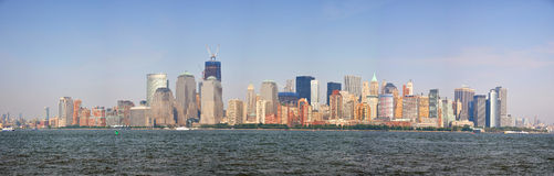 Panorama dell'orizzonte di New York City Fotografie Stock