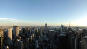 Panorama dell'orizzonte di New York Fotografie Stock Libere da Diritti