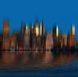 Panorama dell'orizzonte di New York di primo mattino Immagine Stock Libera da Diritti