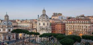 Panorama dell'orizzonte di Roma Fotografie Stock Libere da Diritti