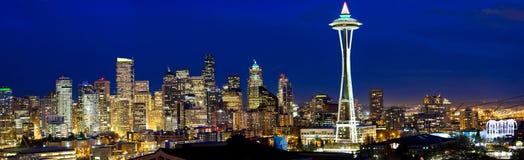 Panorama dell'orizzonte di Seattle Fotografia Stock