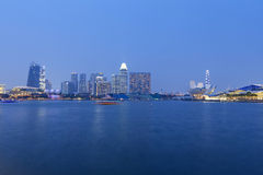 Panorama dell'orizzonte di Singapore Fotografia Stock