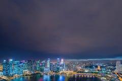 Panorama dell'orizzonte di Singapore del centro Fotografia Stock Libera da Diritti