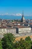 Panorama dell'orizzonte di Torino Immagini Stock Libere da Diritti