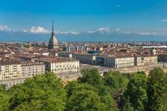 Panorama dell'orizzonte di Torino Immagine Stock Libera da Diritti