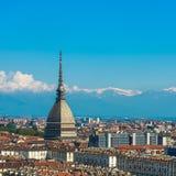 Panorama dell'orizzonte di Torino Fotografie Stock Libere da Diritti