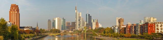 Panorama dell'orizzonte XXL di Francoforte Fotografia Stock Libera da Diritti