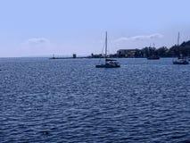 Panorama della baia alla città di Corfù sull'isola greca di Corfù Immagine Stock Libera da Diritti