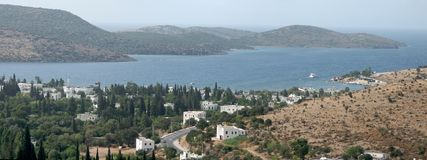 Panorama della baia di Bitez in Bodrum Immagine Stock Libera da Diritti