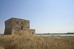 Panorama della baia di guaceto della torre Fotografia Stock Libera da Diritti