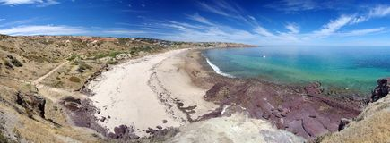 Panorama della baia di Hallett fotografia stock libera da diritti
