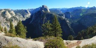 Panorama della California della sosta nazionale del Yosemite Fotografie Stock