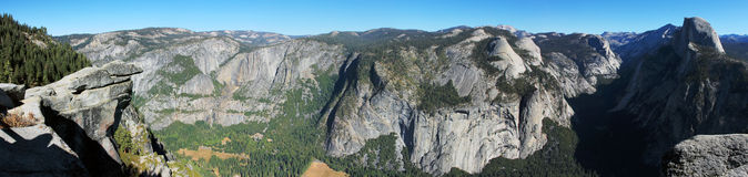 Panorama della California della valle del Yosemite Fotografie Stock