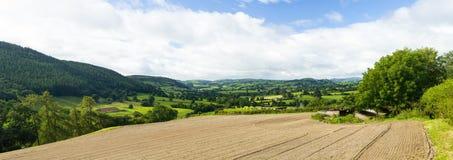 Panorama della campagna di lingua gallese Fotografie Stock