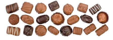 Panorama della caramella di cioccolato fotografia stock