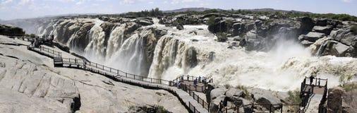 Panorama della cascata di Augrabies Fotografie Stock Libere da Diritti