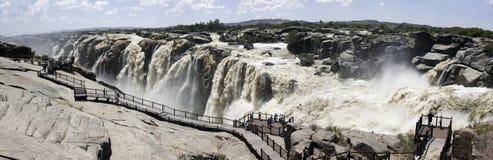 Panorama della cascata di Augrabies Fotografia Stock Libera da Diritti