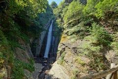 Panorama della cascata di Smolare - il più alta cascata in Repubblica Macedone Fotografie Stock Libere da Diritti