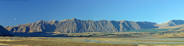 Panorama della catena montuosa Fotografie Stock