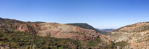 Panorama della catena montuosa dell'atlante Fotografia Stock