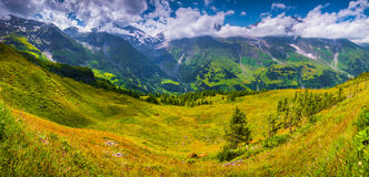Panorama della catena montuosa di Grossglockner Fotografia Stock