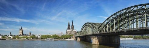 Panorama della cattedrale di Colonia, Germania Immagini Stock Libere da Diritti