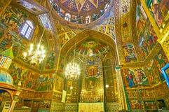 Panorama della cattedrale di Vank a Ispahan, Iran Fotografia Stock