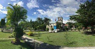 Panorama della chiesa di Corella immagine stock
