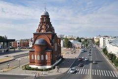 Panorama della chiesa di trinità e della via di Dvoryanskaya - Vladim Immagine Stock