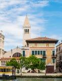 Panorama della chiesa di Venezia di San Samuel Fotografia Stock Libera da Diritti