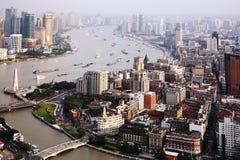 Panorama della Cina Schang-Hai Fotografia Stock