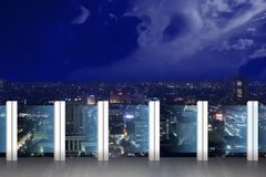 Panorama della città Immagini Stock Libere da Diritti