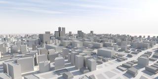 panorama della città 3D Immagini Stock