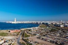 Panorama della città casablanca immagine stock libera da diritti