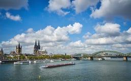 Panorama della città Cologn, Germania fotografie stock