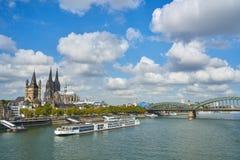 Panorama della città Cologn, Germania Fotografia Stock