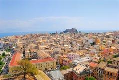 Panorama della città, Corfù Fotografia Stock