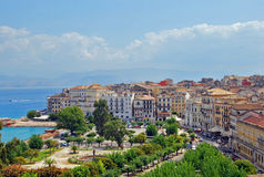 Panorama della città, Corfù Immagini Stock
