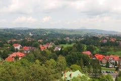 Panorama della città della crusca Immagine Stock