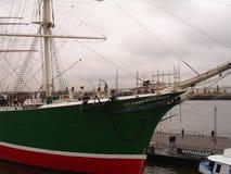 Panorama della città di Amburgo Porto di Amburgo Fotografia Stock