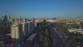 Panorama della città di Astana video d archivio