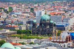 Panorama della città di Berlino Immagine Stock Libera da Diritti