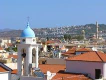 Panorama della città di Chania, Creta, Grecia Fotografie Stock Libere da Diritti