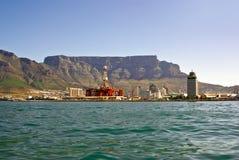Panorama della città di Città del Capo dalla baia fotografia stock libera da diritti