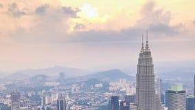 Panorama della città di Cloudscape Kuala Lumpur, Malesia video d archivio
