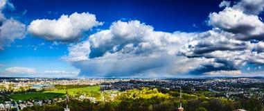 Panorama della città di Cracovia Fotografia Stock Libera da Diritti