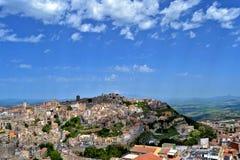 Panorama della città di Enna Fotografia Stock